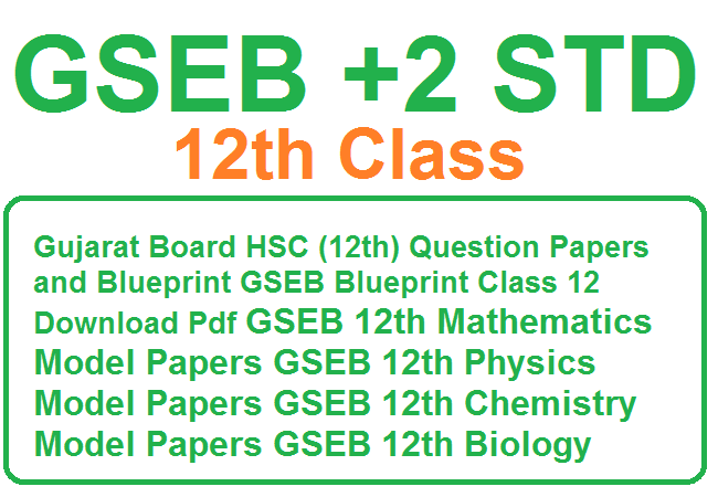 Gujarat Board HSC (12th) Question Papers 2020 and BlueprintGSEB Blueprint 2020 Class 12 Download PdfGSEB 12th Mathematics Model Papers 2020GSEB 12th Physics Model Papers 2020GSEB 12th Chemistry Model Papers 2020GSEB 12th Biology Model Papers 2020