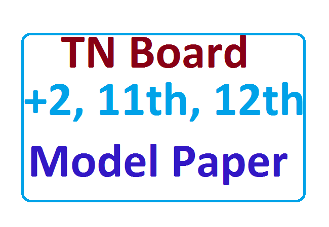 TN 12th Model Paper