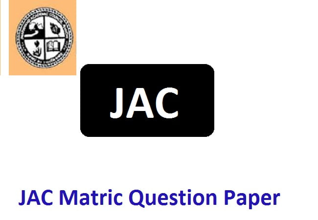 JAC Matric Question Paper 2020