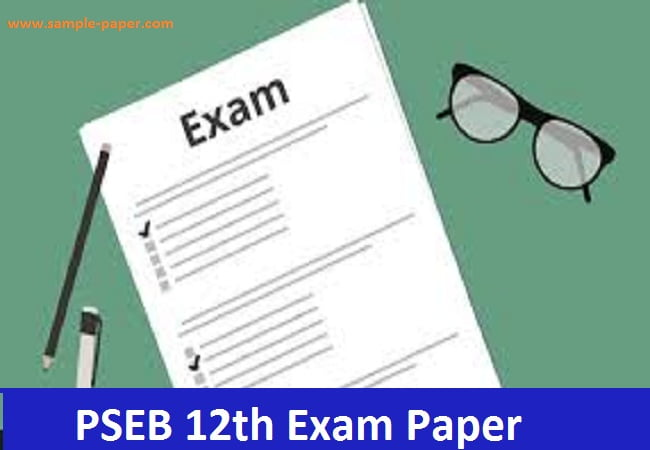 PSEB 12 Sample Question Paper 2020