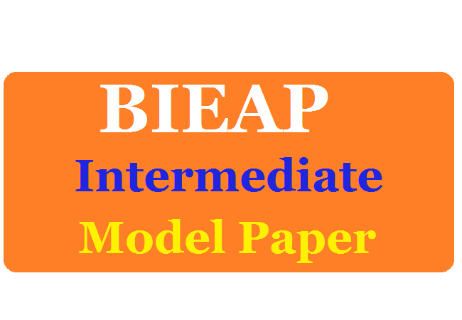AP Inter 1st / 2nd Year Previous Model Papers 2020