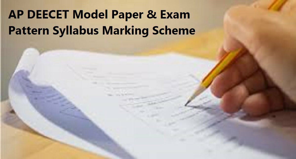 AP DEECET Model Question Paper 2020 Exam Pattern & Syllabus