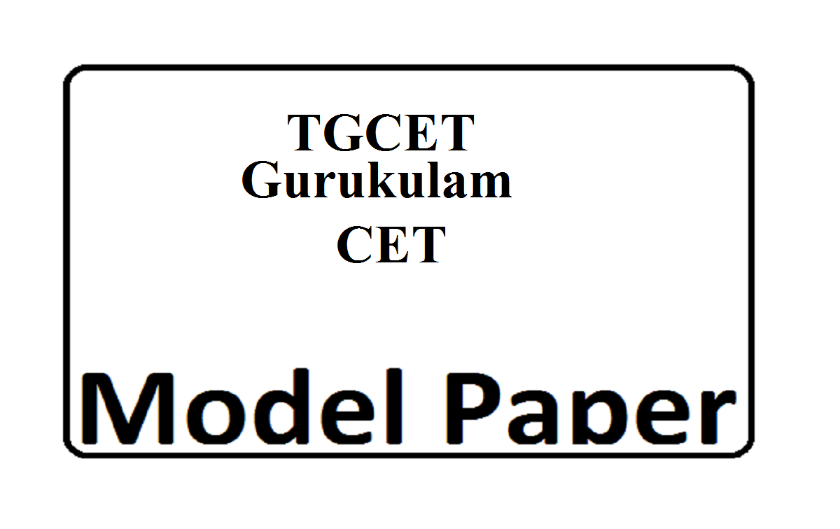 TS CET Gurukulam 5th Class Model Paper 2020