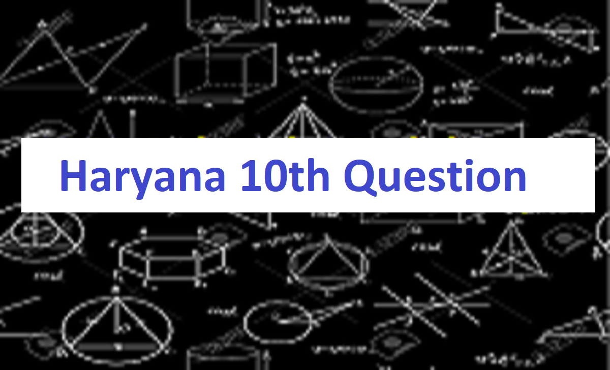 HBSE 10th Model Paper 2021 Haryana Matric Sample Paper 2021 HBSE Xth Previous Paper 2021